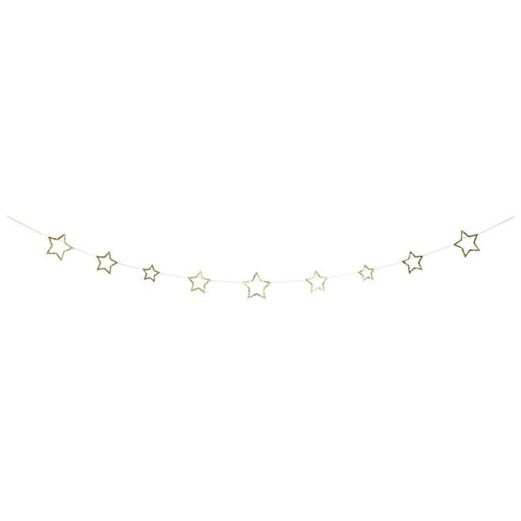 meri meri gold star glitter mini garland holiday christmas party decoration supplies hanging