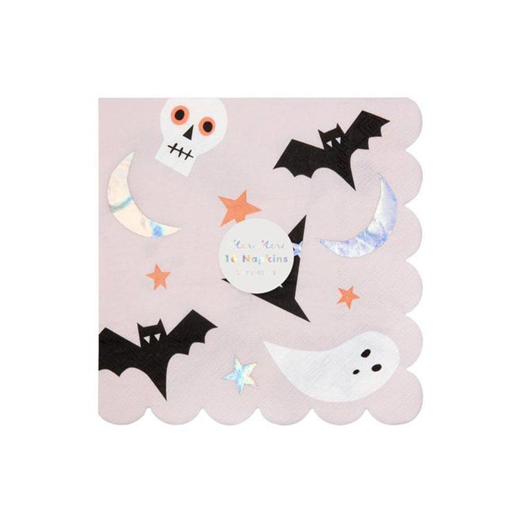 meri meri halloween icons large napkins pack