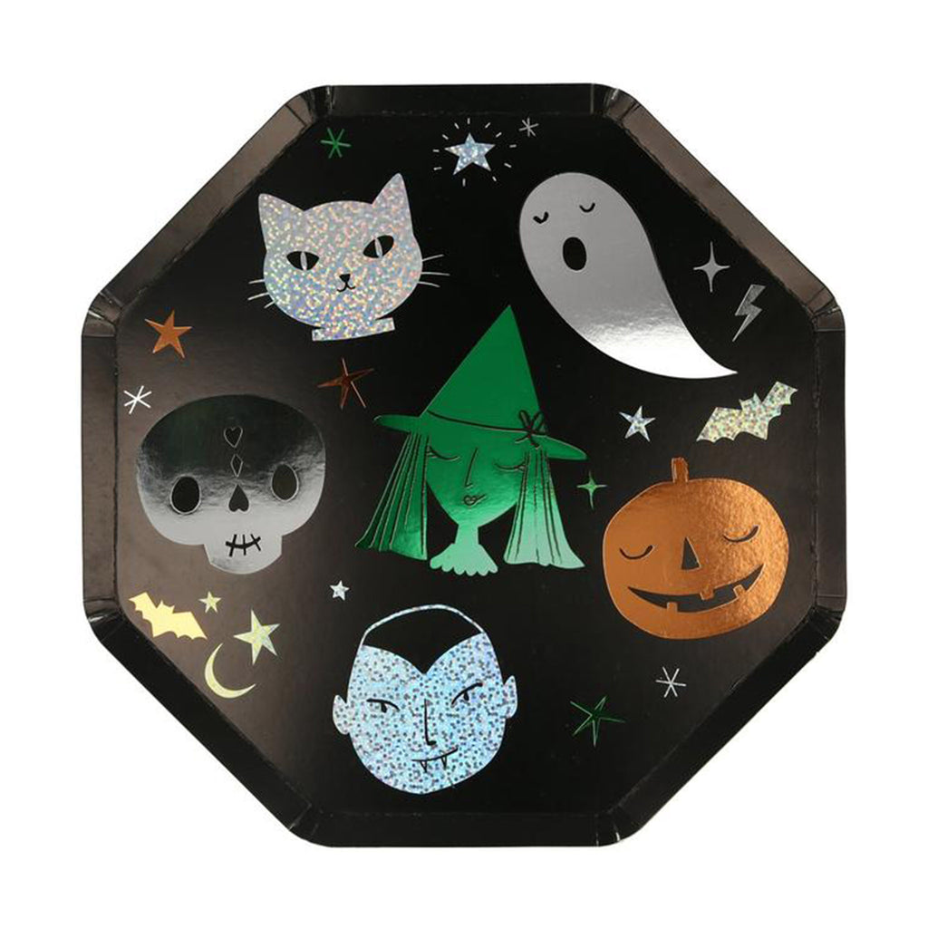 meri meri halloween motif dinner plates halloween party supplies