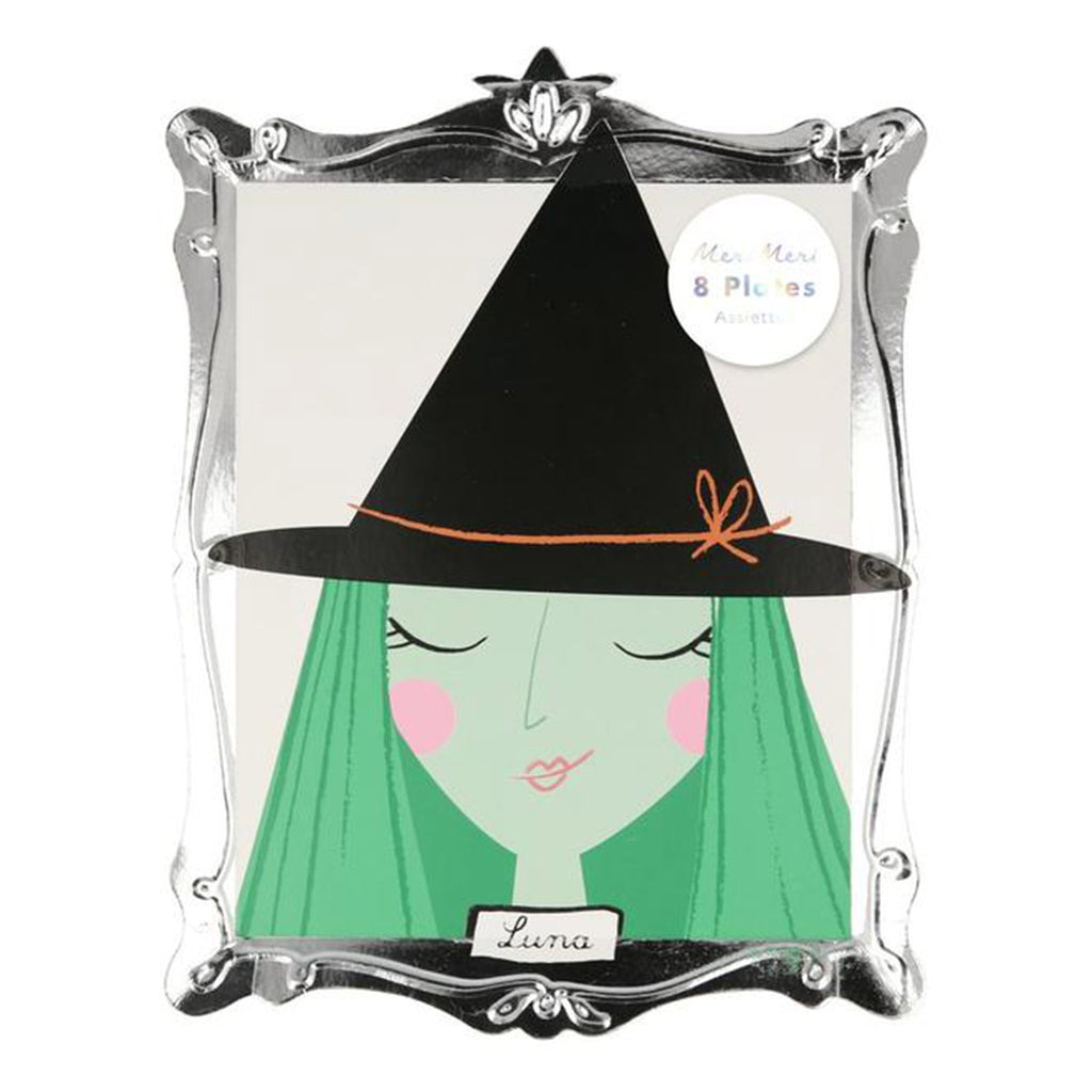 meri meri halloween motif frame plates halloween party supplies in packaging