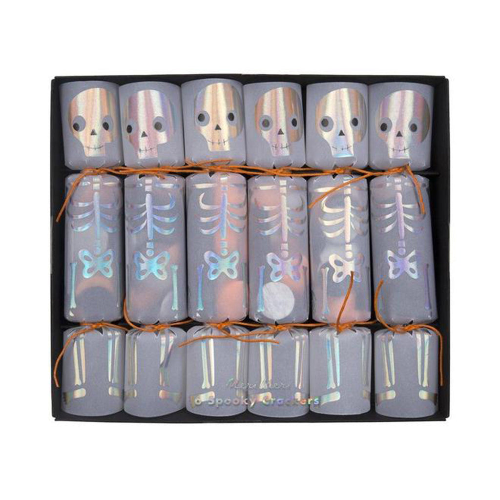 meri meri halloween skeleton confetti crackers party favor packaging