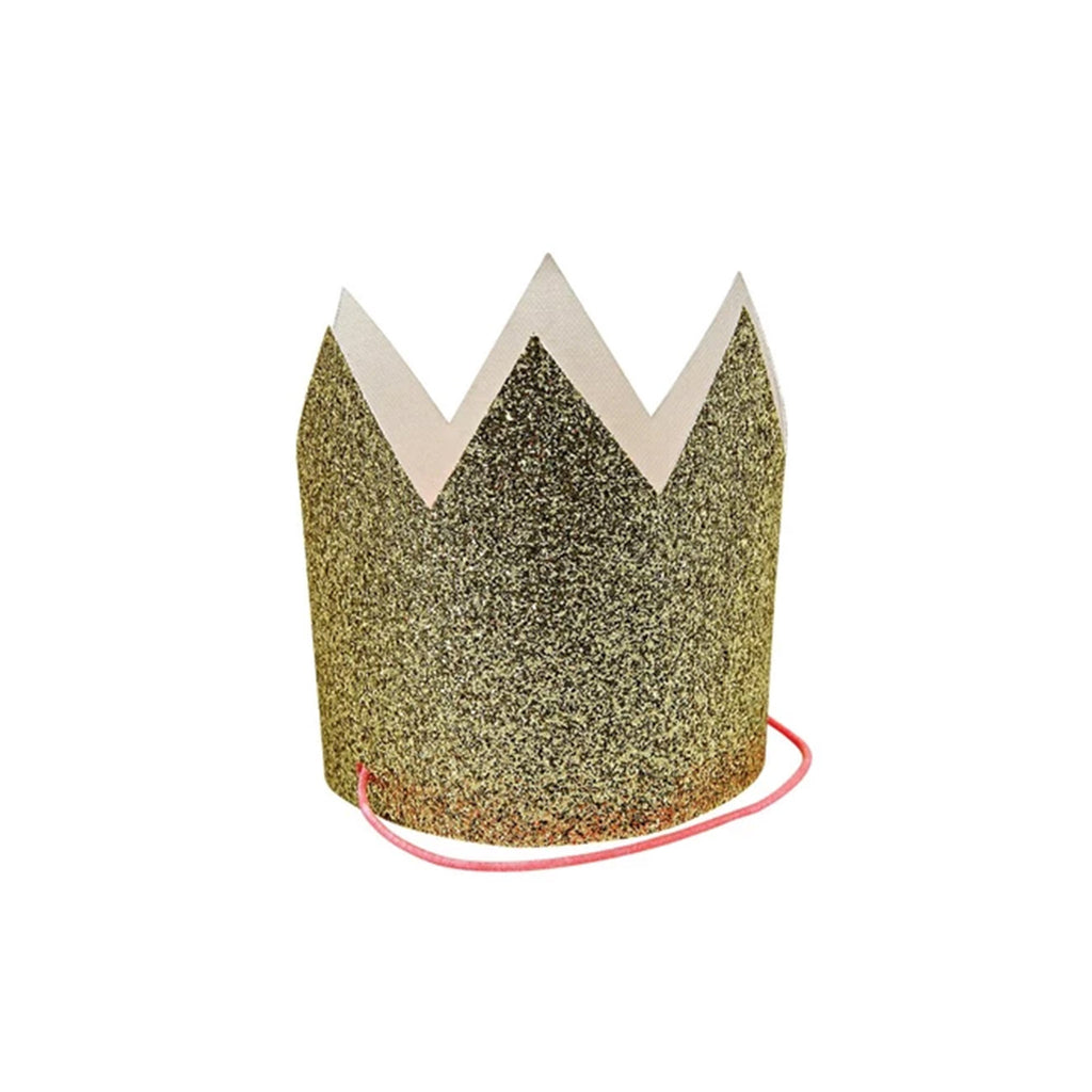 meri meri mini gold glitter crowns birthday party supplies