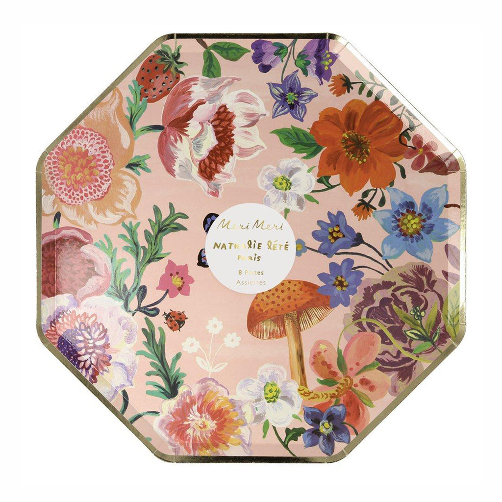 meri meri nathalie lete illustrated flora dinner plates in packaging