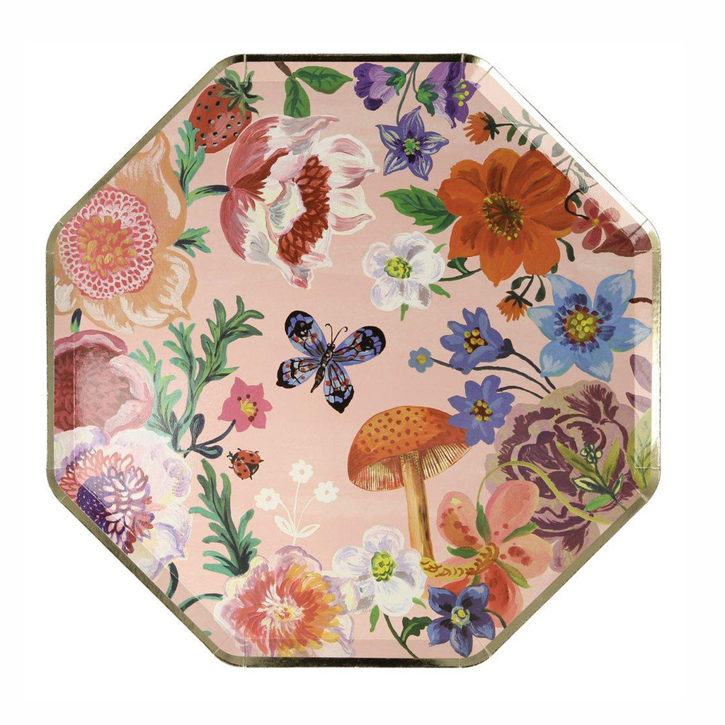 meri meri nathalie lete illustrated flora dinner plate