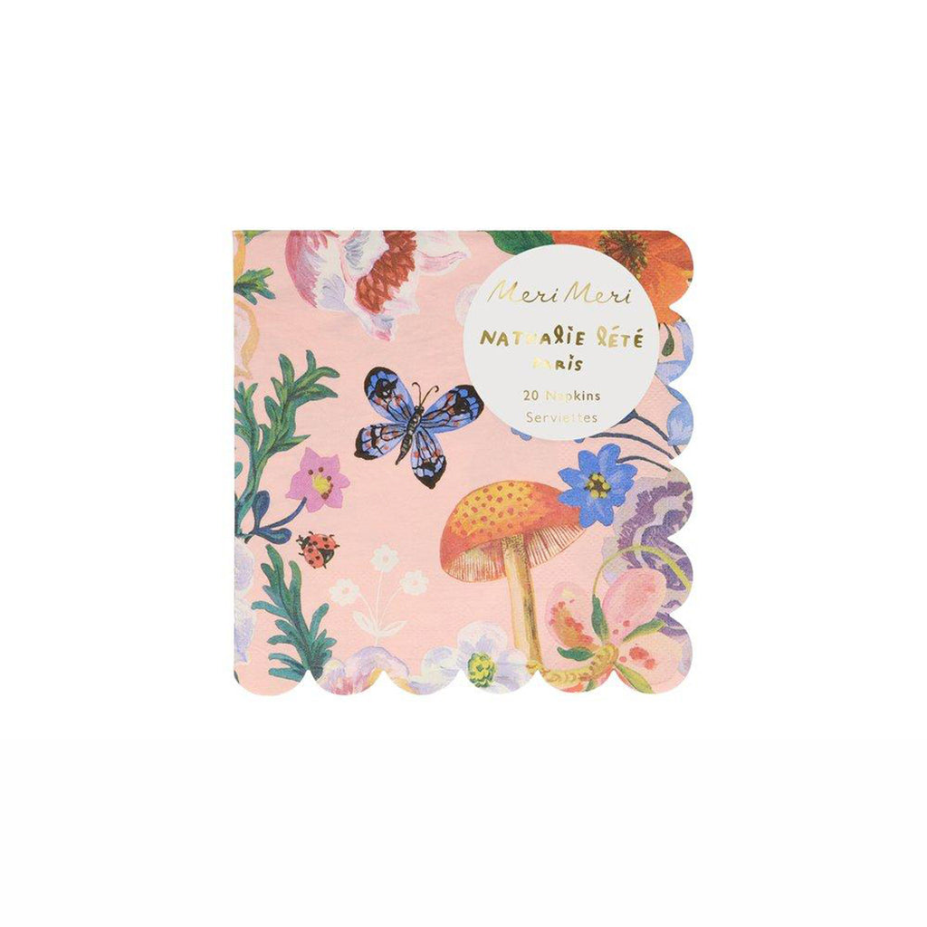meri meri nathalie lete illustrated flora small napkin in packaging