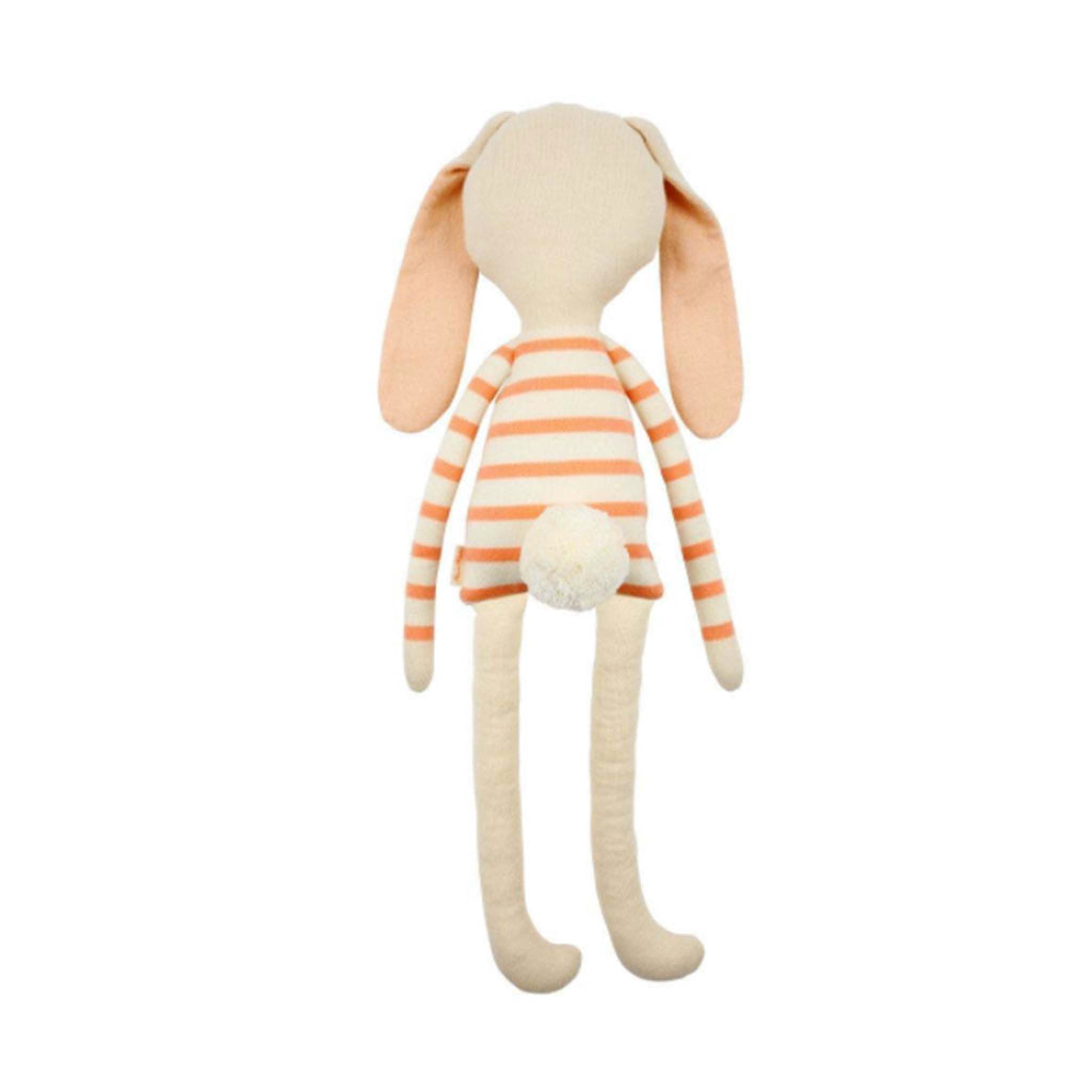 meri meri pepper small knit bunny with striped coral shirt back
