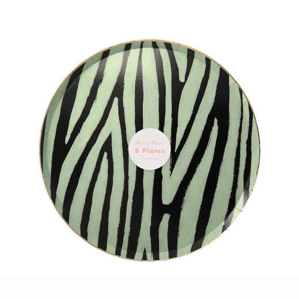 meri meri safari animal print party side dessert plates four designs in packaging