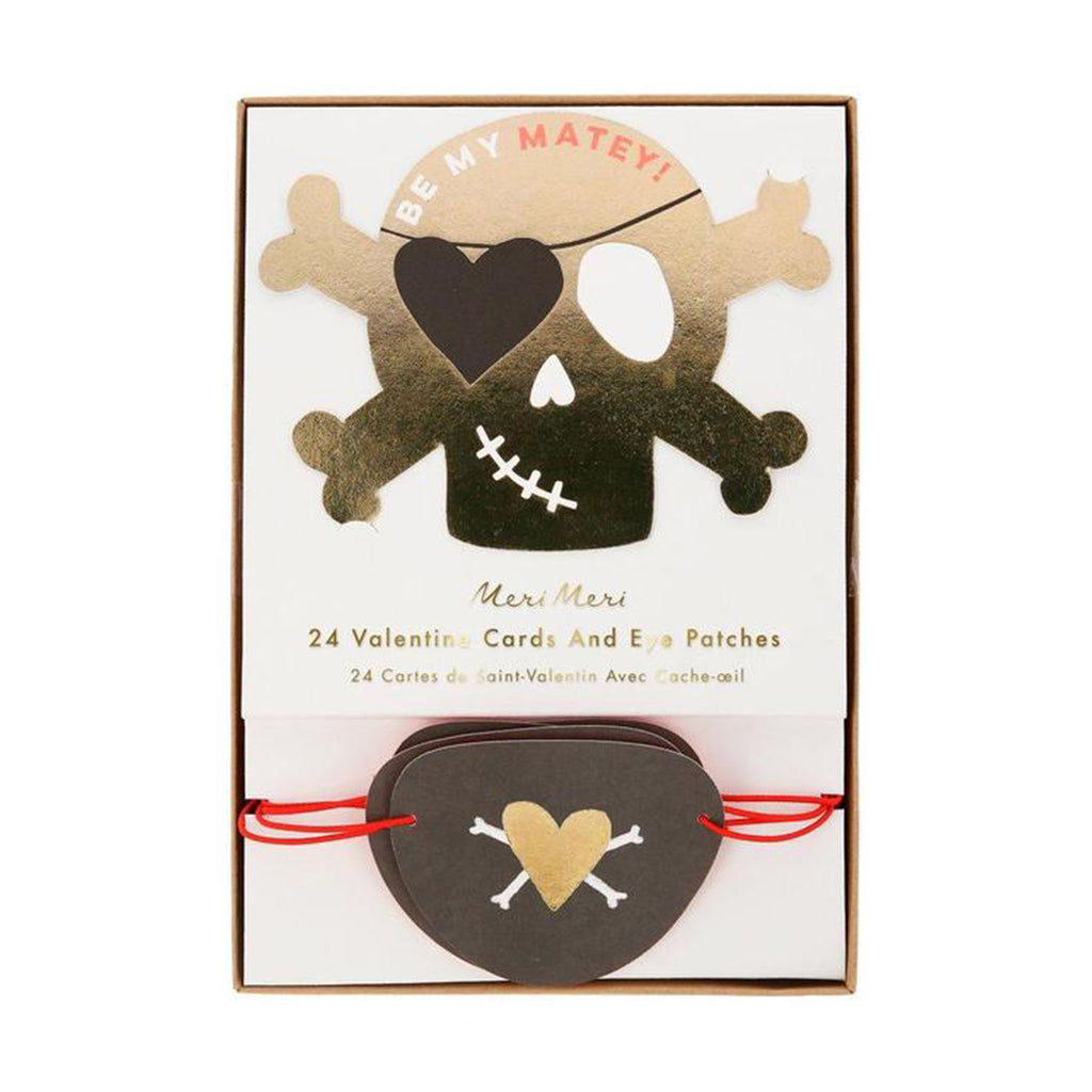 meri meri valentine's day cards pirate valentines love notes with eye patches in packaging