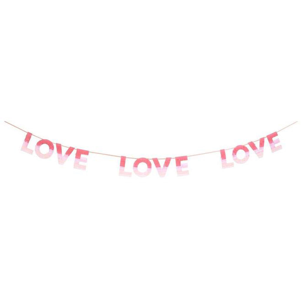 meri meri valentine's day party supplies ombre love paper garland decoration