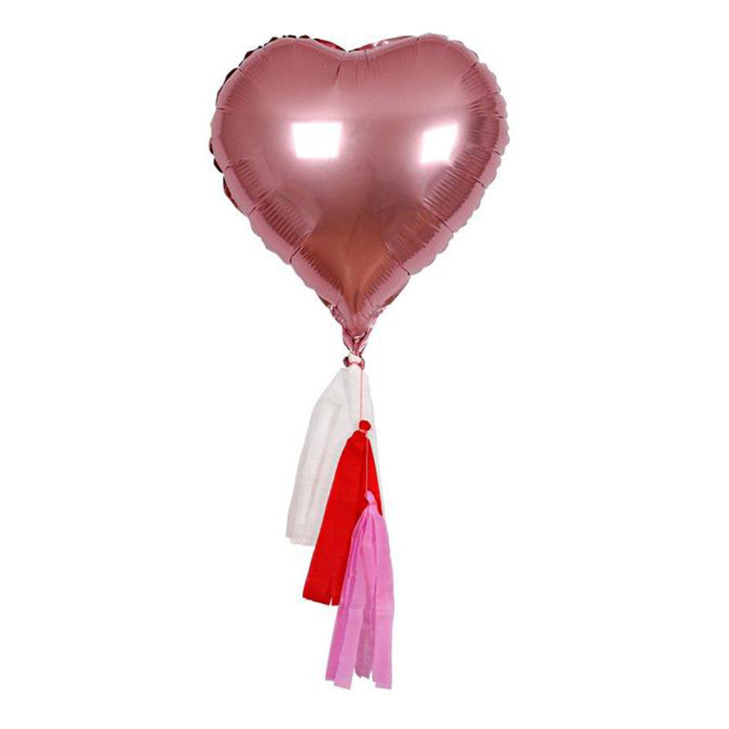meri meri valentine's day party supplies pink heart foil balloon kit decorations