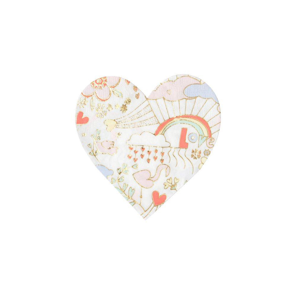 meri meri valentine's day party supplies valentine doodle small heart napkins