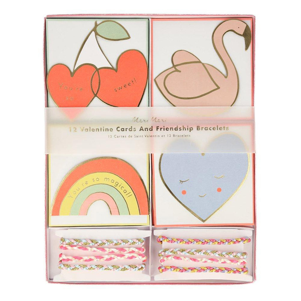 meri meri valentine's day stationery valentine friendship bracelet card note set in packaging