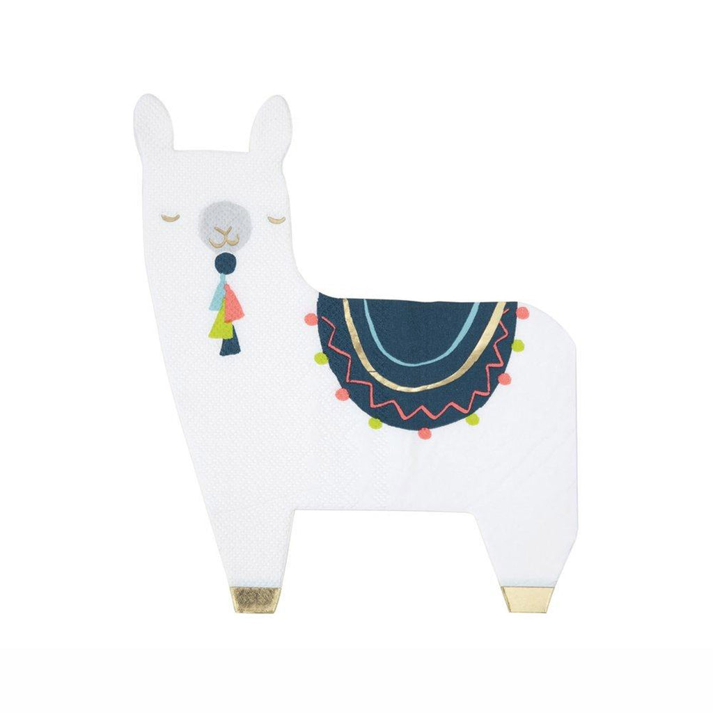 meri meri white llama party dinner napkin