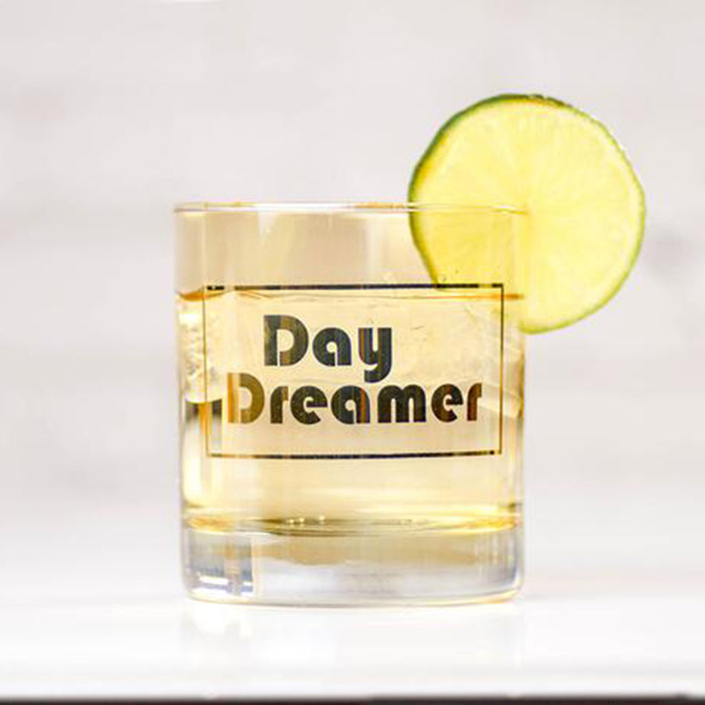 meriwether day dreamer amber colored cocktail glass front with lime