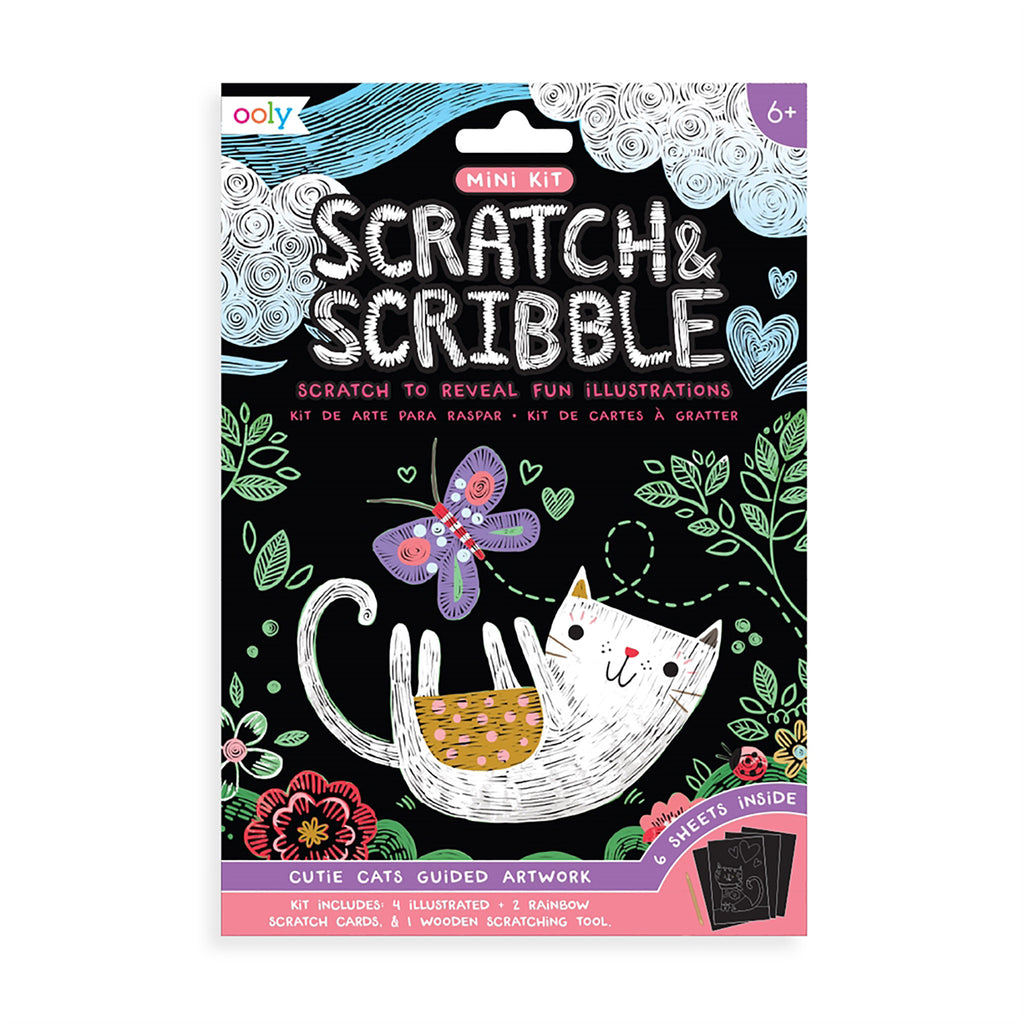 Mini Scratch & Scribble Art Kit: Cutie Cats