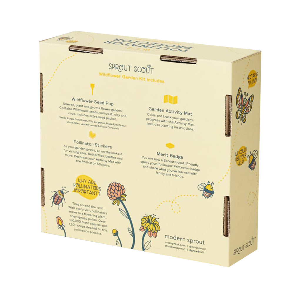 modern sprout global citizen pollinator protector garden activity kit for kids box back