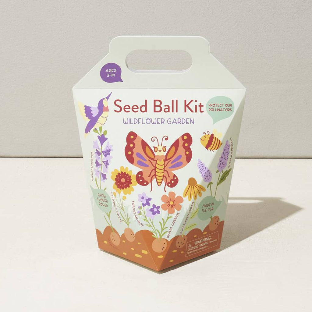 modern sprout wildflower garden seed ball kit packaging front