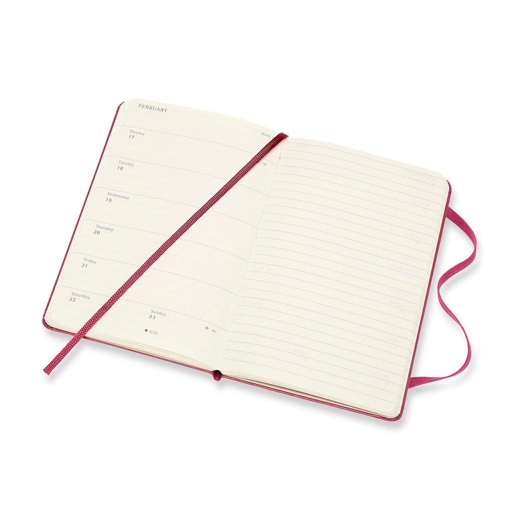 moleskine pink 18 month weekly pocket notebook planner