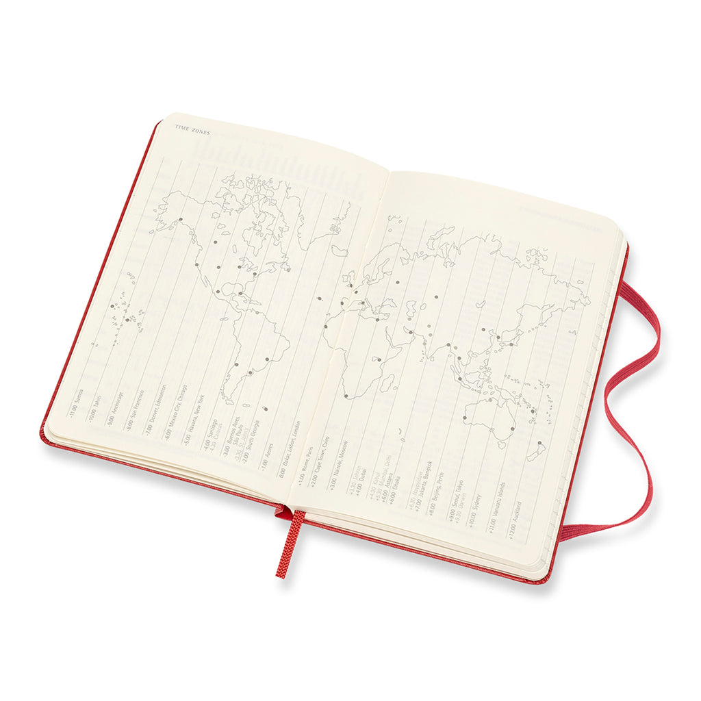 moleskine scarlet red 18 month weekly pocket horizontal planner