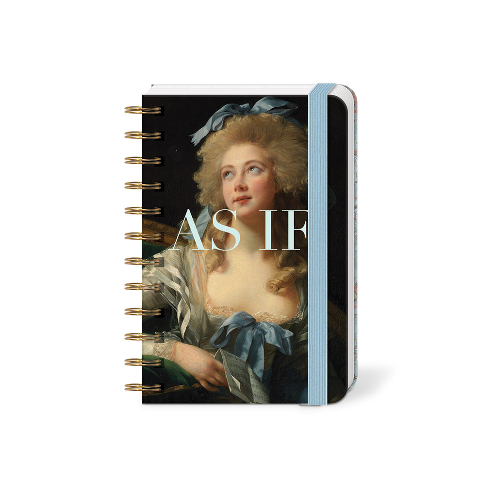 molly and rex as if spiral bound mini pocket notebook with lined pages cover