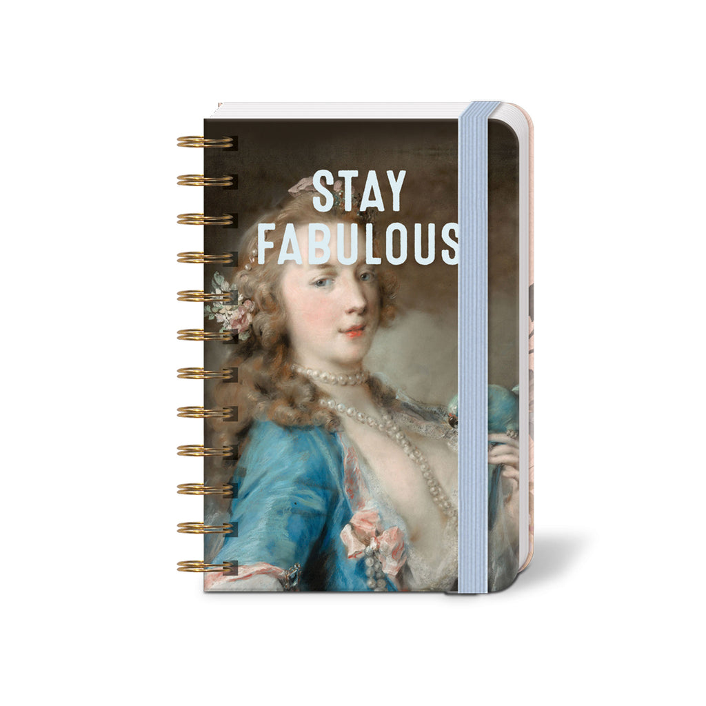 molly and rex stay fabulous spiral bound mini pocket notebook with lined pages cover