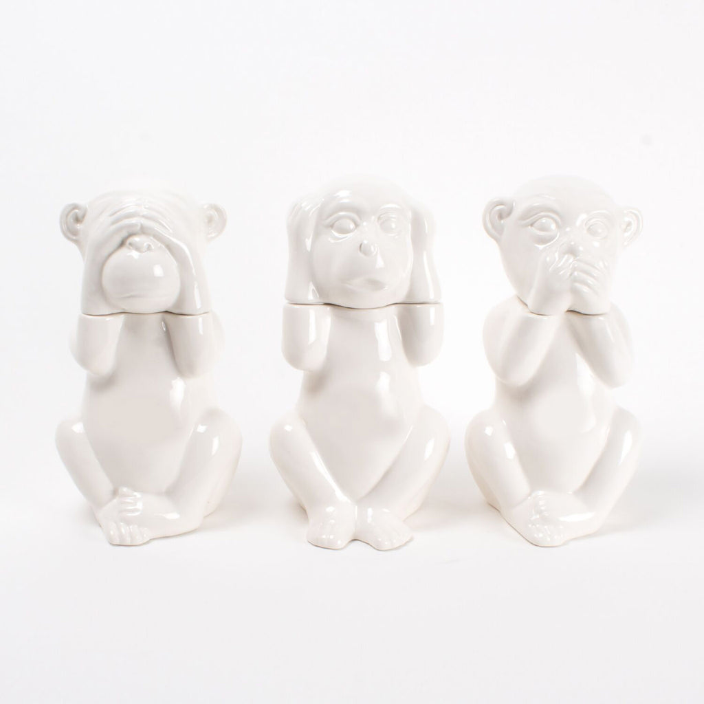 8 oak lane monkey see no evil hear no evil speak no evil decorative decanter set of three