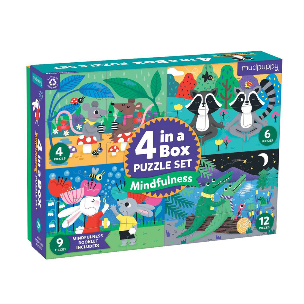 chronicle mudpuppy 4-in-a-box-puzzle-set-mindful-mindfulness-progressive-jigsaw-puzzles-box-front-anglechronicle mudpuppy 4-in-a-box puzzle set mindful mindfulness progressive jigsaw puzzles box front angle