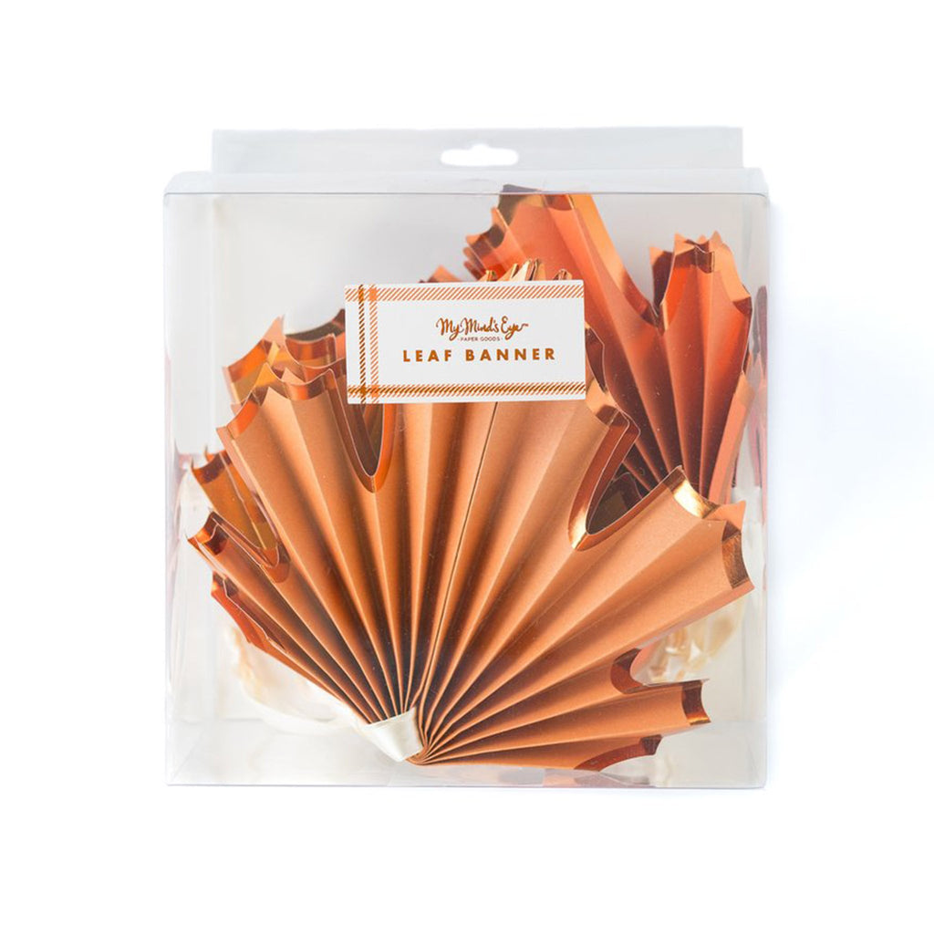thanksgiving harvest leaf banner packaging