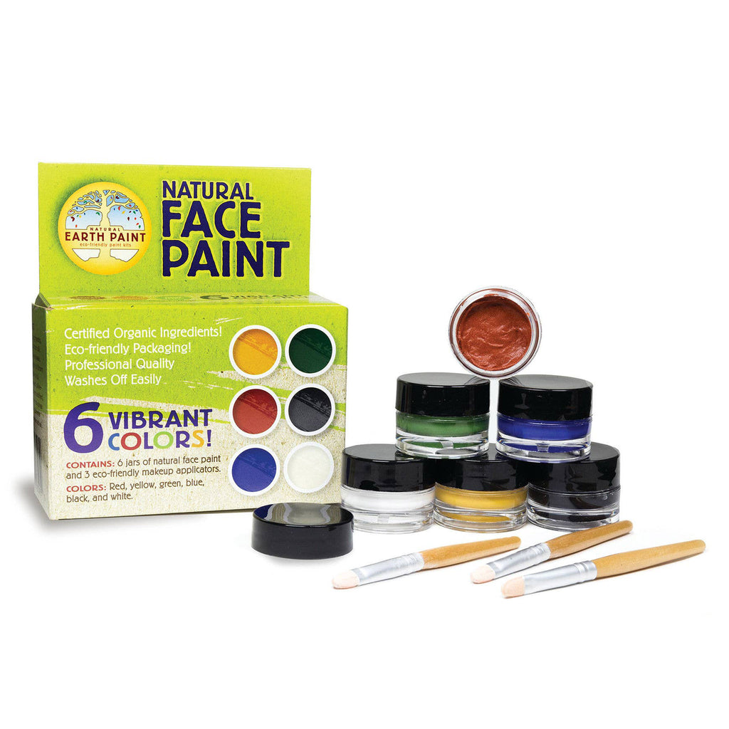 natural earth paint face paint kit box with contents