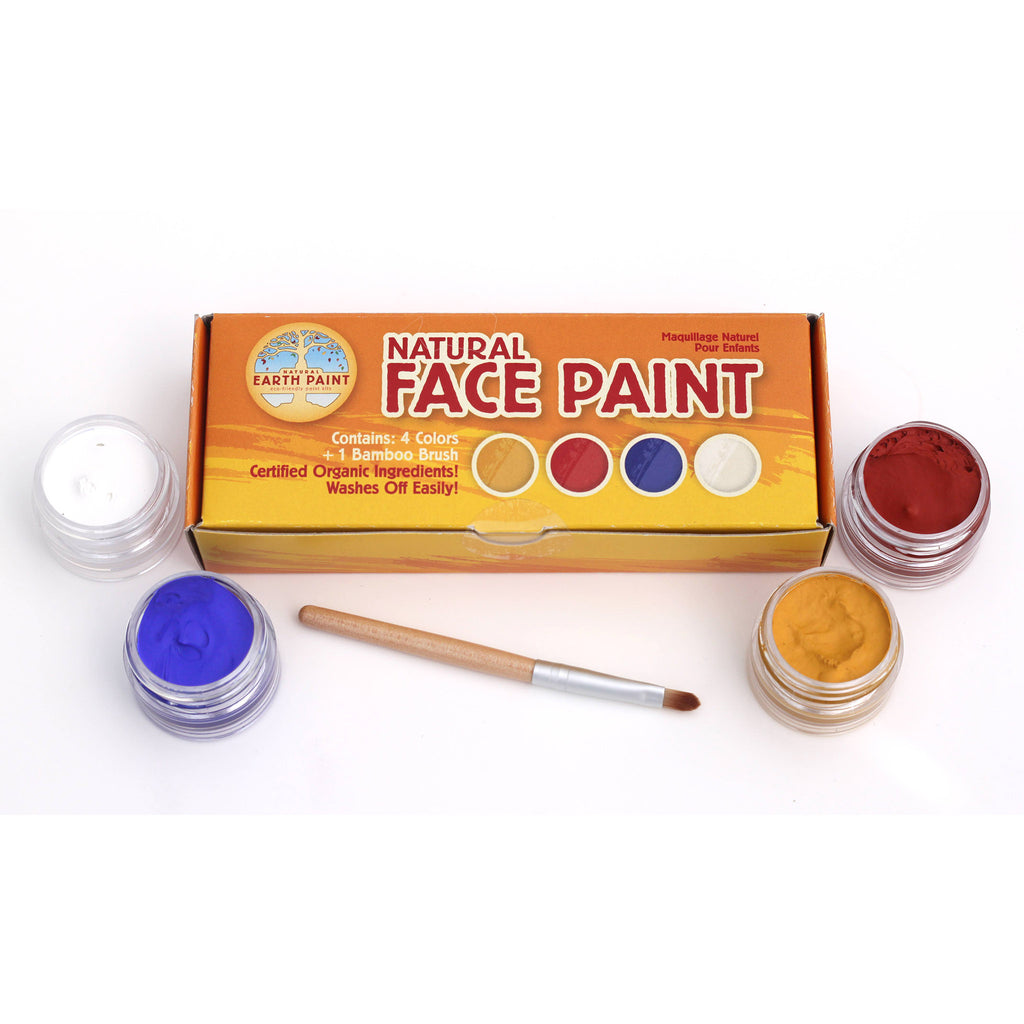 natural earth paint mini face paint kit box with contents