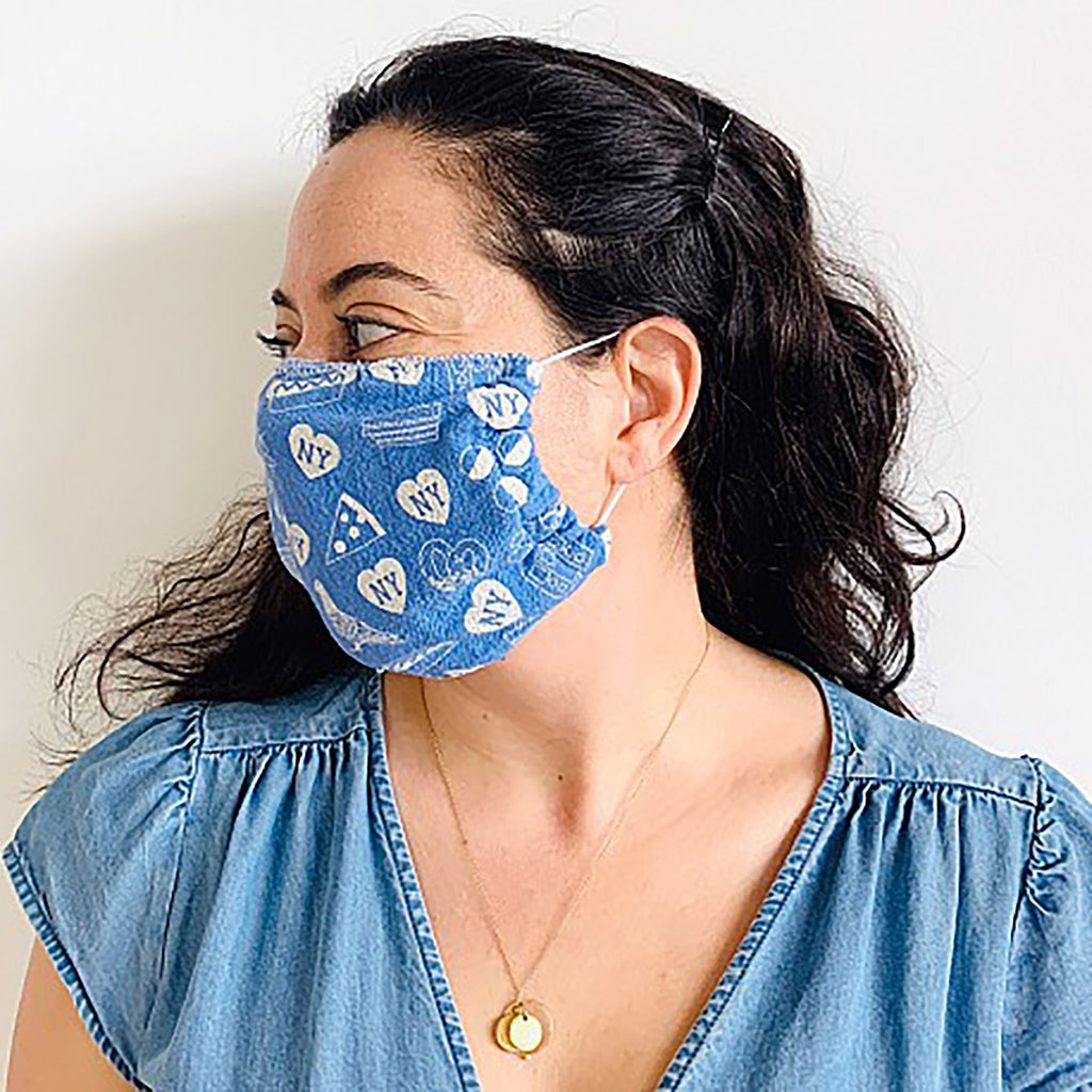 New York Reusable Face Mask - Blue
