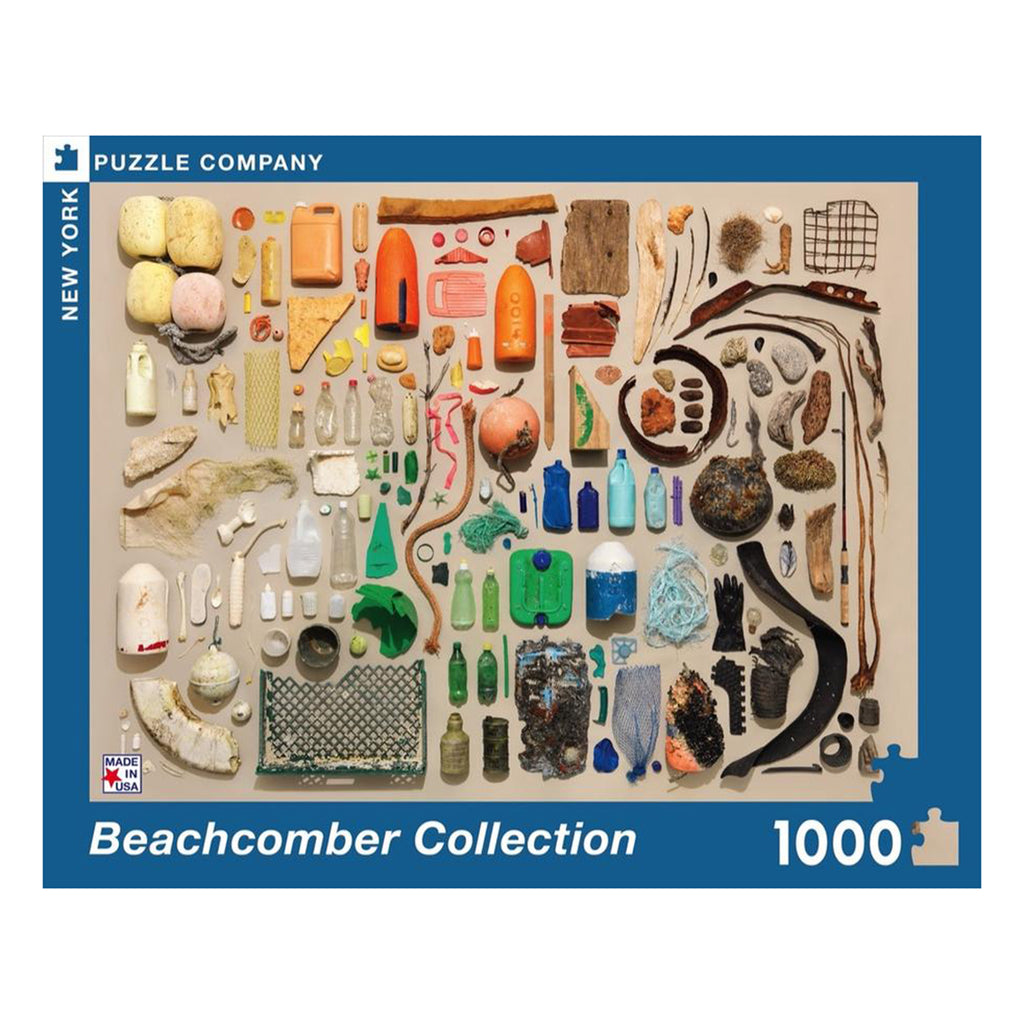 new york puzzle company 1000 piece beachcomber collection jigsaw puzzle box front