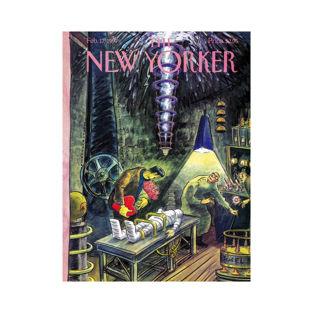 new york puzzle company 1000 piece ghouls rush in new yorker halloween jigsaw puzzle original magazine cover