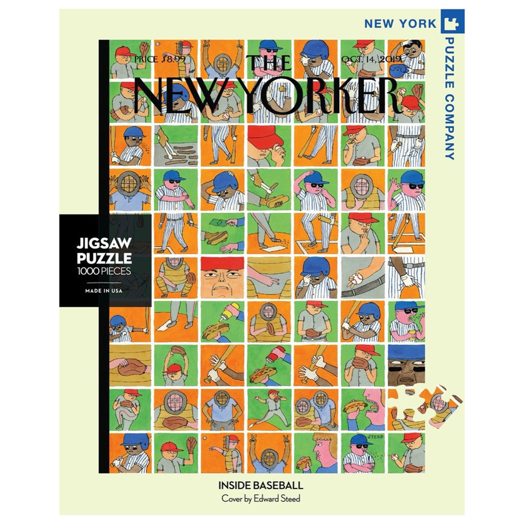 new york puzzle company 1000 piece inside baseball jigsaw puzzle