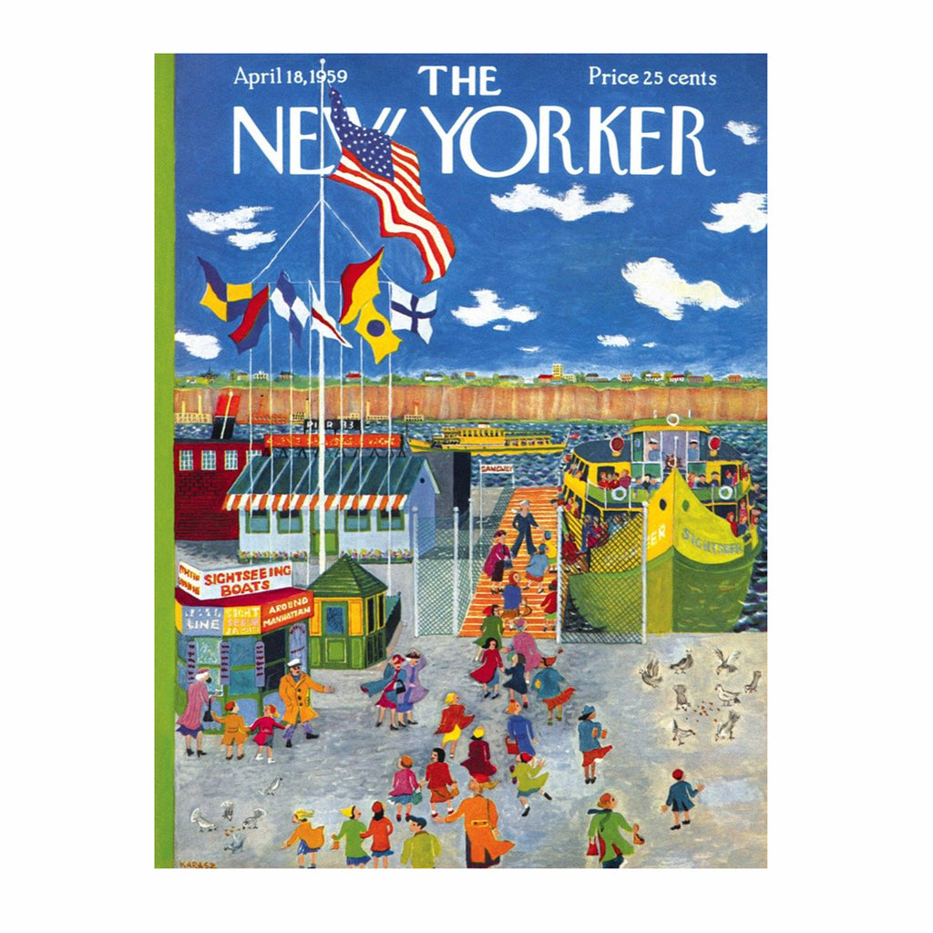 new york puzzle company 1000 piece new yorker cover ferry boat jigsaw puzzle original artwork