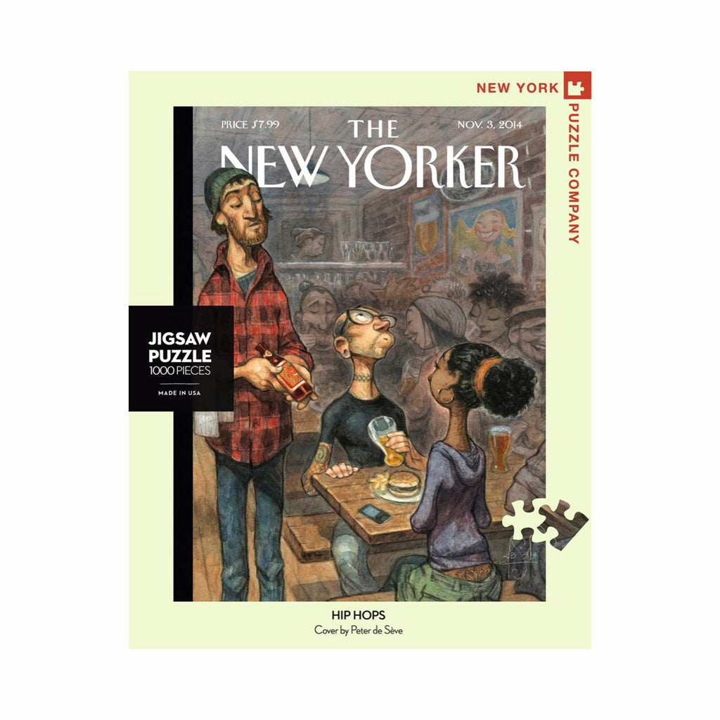 new york puzzle company 1000 piece new yorker cover hip hops jigsaw puzzle box front