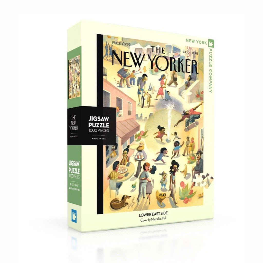 new york puzzle company 1000 piece new yorker cover lower east side jigsaw puzzle box front on angle