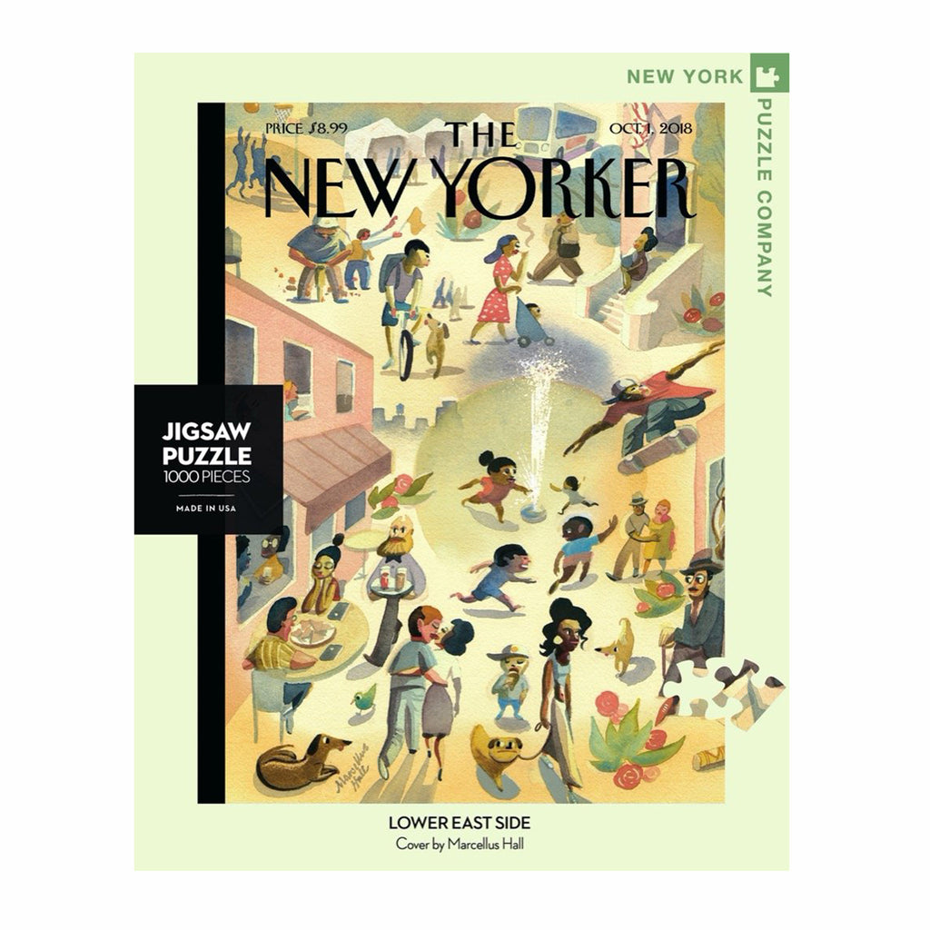 new york puzzle company 1000 piece new yorker cover lower east side jigsaw puzzle box front