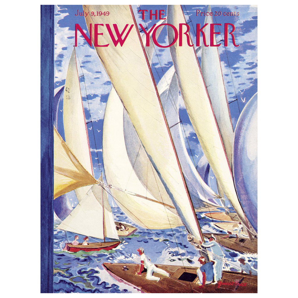 new york puzzle company 1000 piece regatta new yorker jigsaw puzzle original cover artwork
