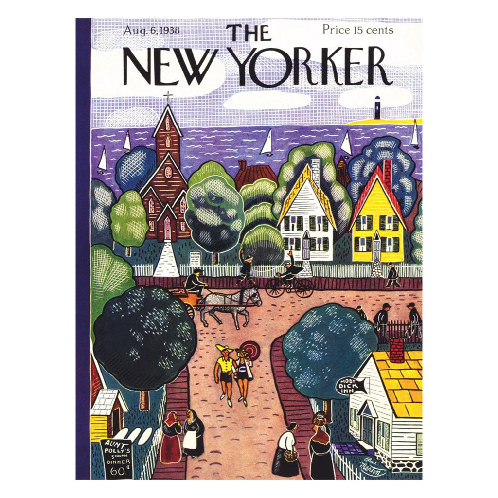 new york puzzle company 1000 piece village by the sea jigsaw puzzle