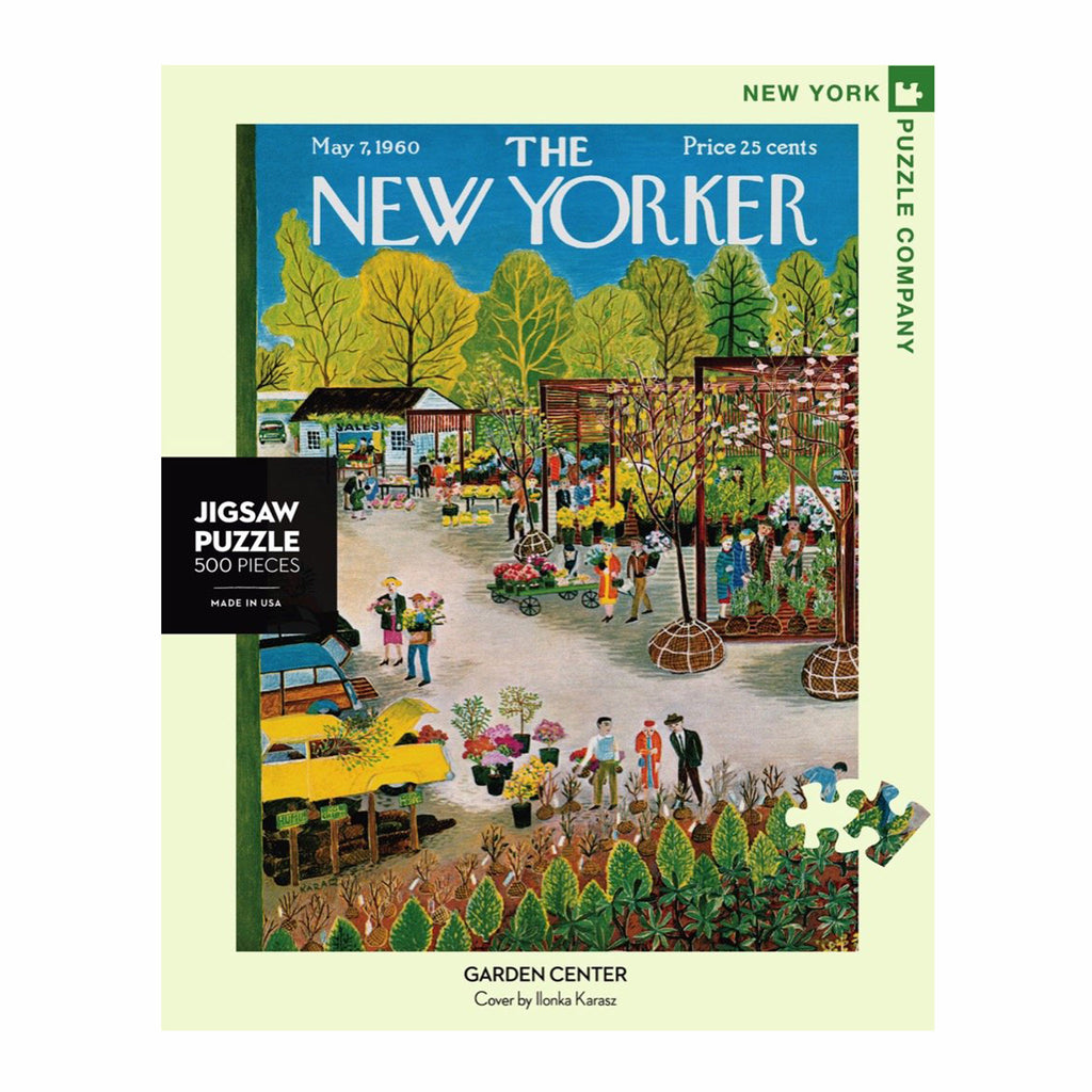 new york puzzle company 500 piece garden center new yorker cover jigsaw puzzle box front