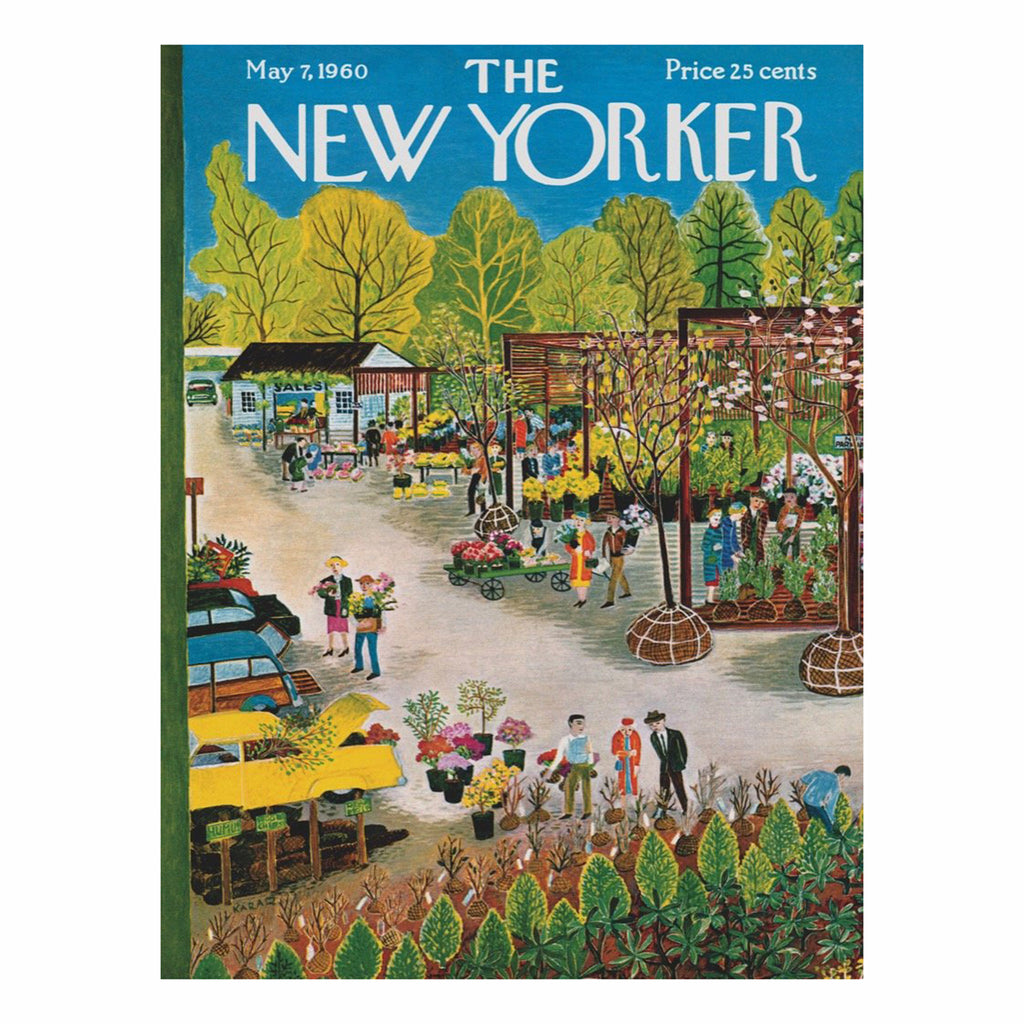 new york puzzle company 500 piece garden center new yorker cover jigsaw puzzle original artwork