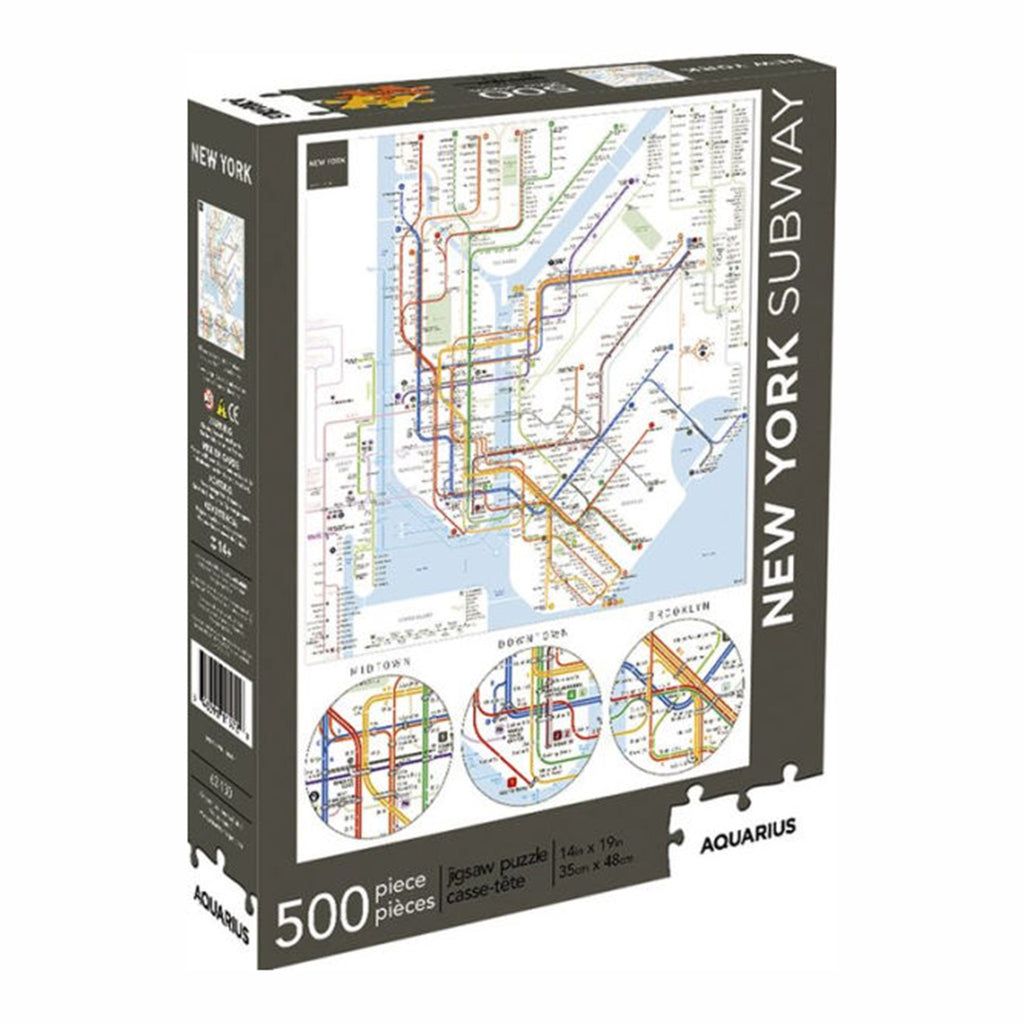 500 Piece New York City Subway Map Jigsaw Puzzle