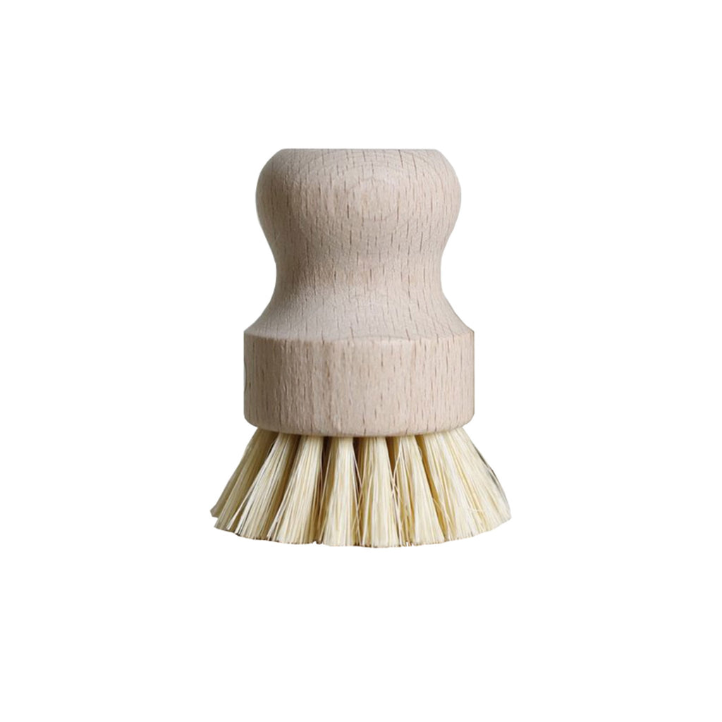 no tox life dish vegetable hand brush scrubber white teakwood agave fiber