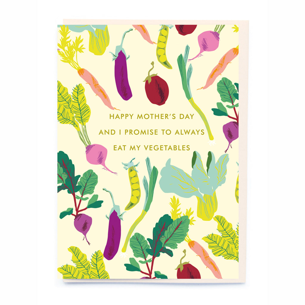 noi publishing i promise to always eat my vegetables mothers day greeting card