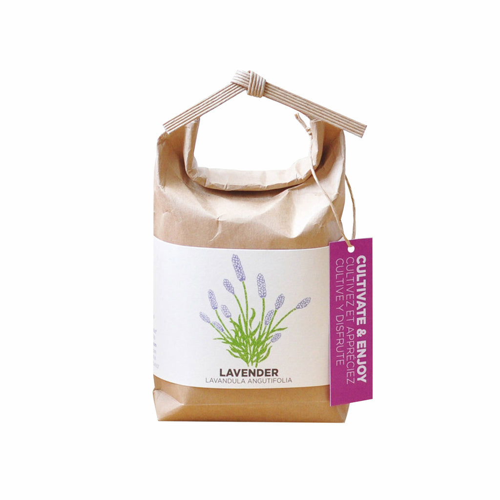 noted cultivate and enjoy lavender indoor plant garden grow kit in packaging