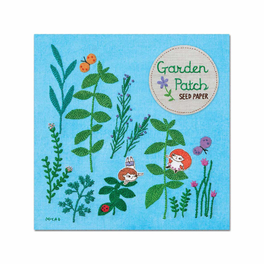 noted garden patch seed paper with herb assortment seeds outdoor or container garden seed packaging