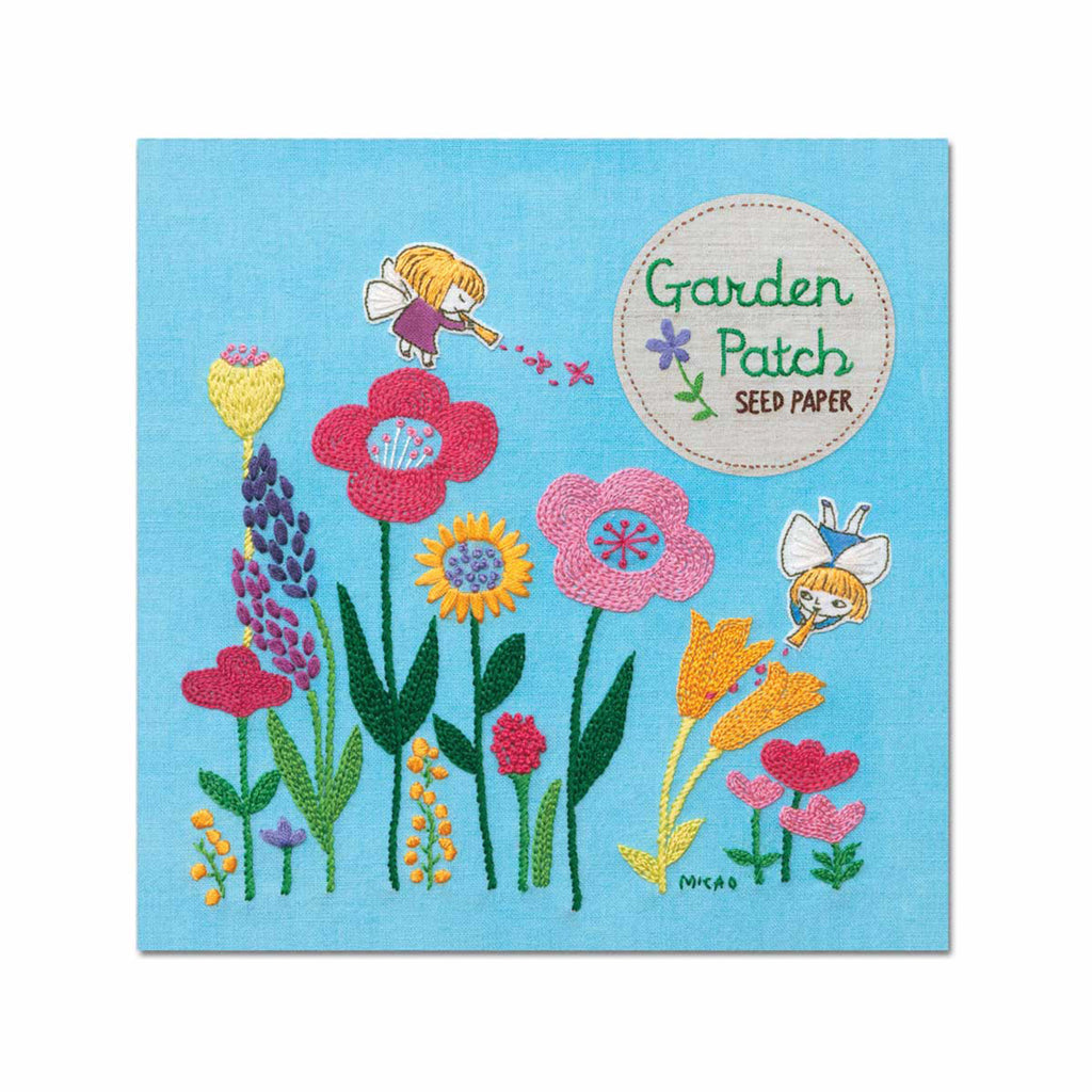 noted garden patch seed paper with mixed wildflower seeds outdoor or container garden seed packaging