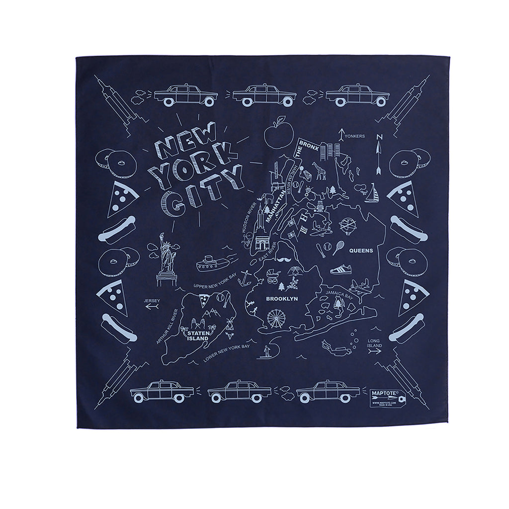 nyc bandana navy