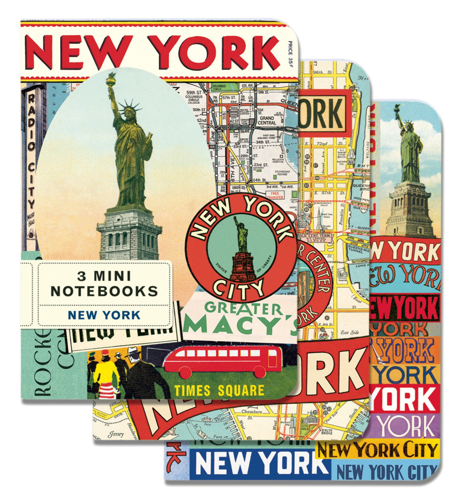 nyc mini notebook set